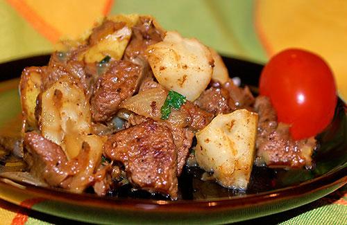 рецепт телятина с картошкой в рукаве в духовке