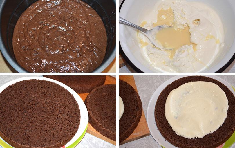 Этот крем получается и так достаточно легким, поэтому не стоит использовать для его приготовления обезжиренные йогурт и творог.