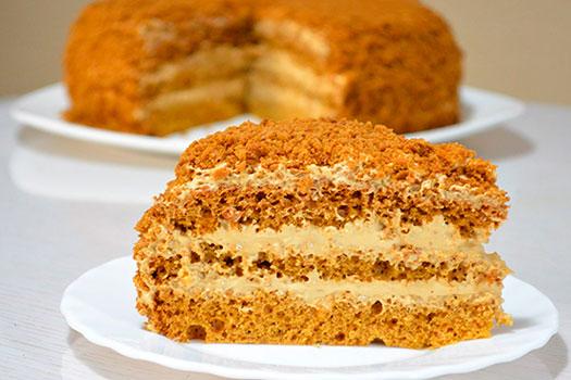 Простой медового бисквита