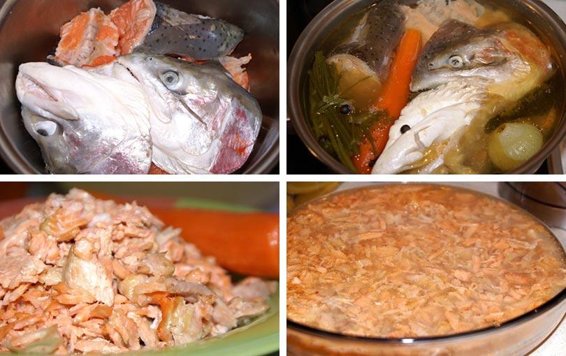 Как сделать прозрачное заливное из рыбы